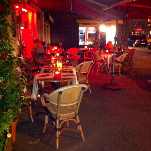 La terrasse du Bar Kalaya à Yverdon